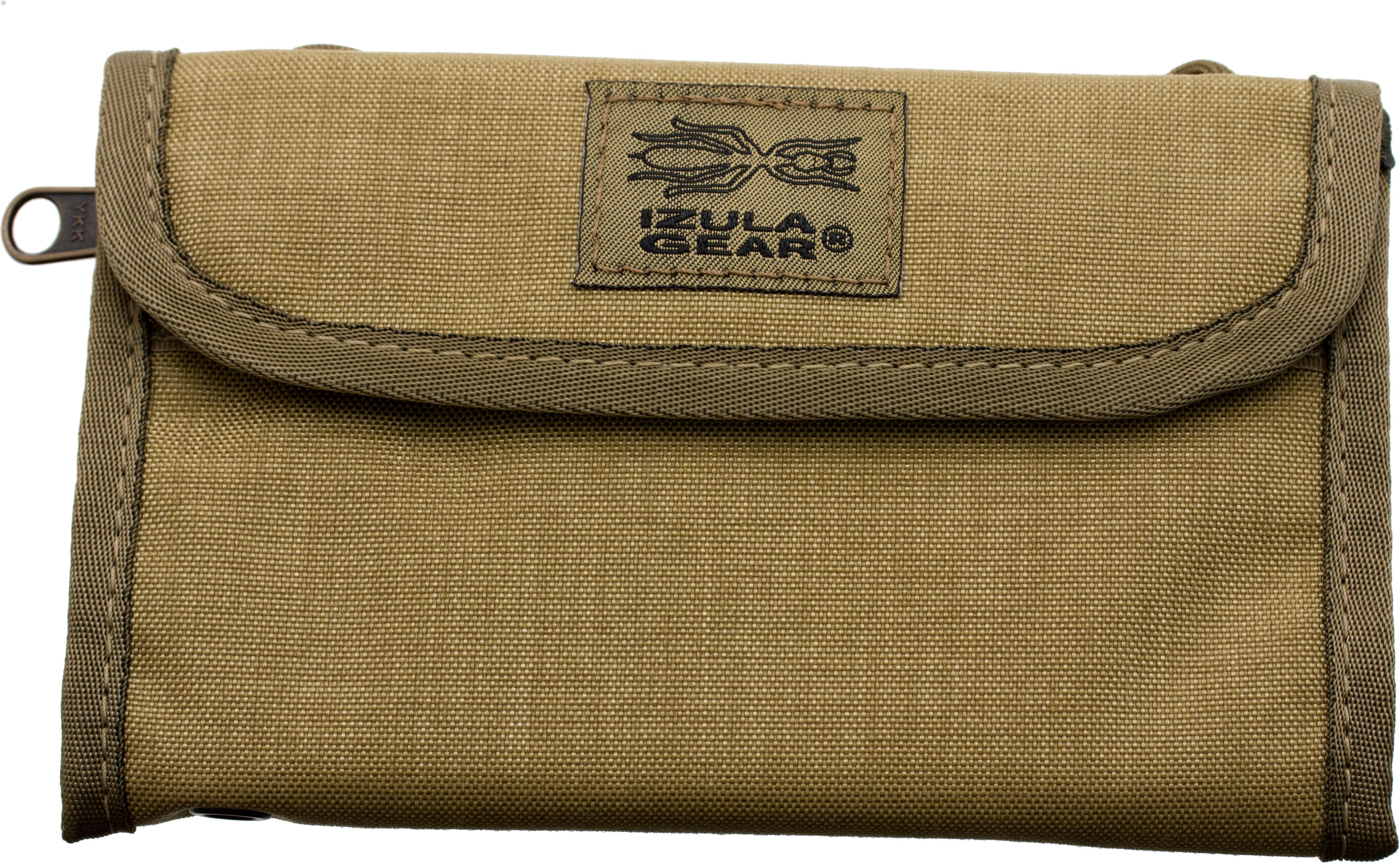 ESEE Izula Gear Passport Case with Bullet Space Pen, Desert Tan