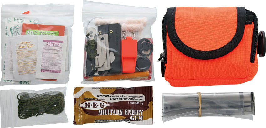 ESEE Basic Survival / E&E Pocket Kit, Orange Pouch
