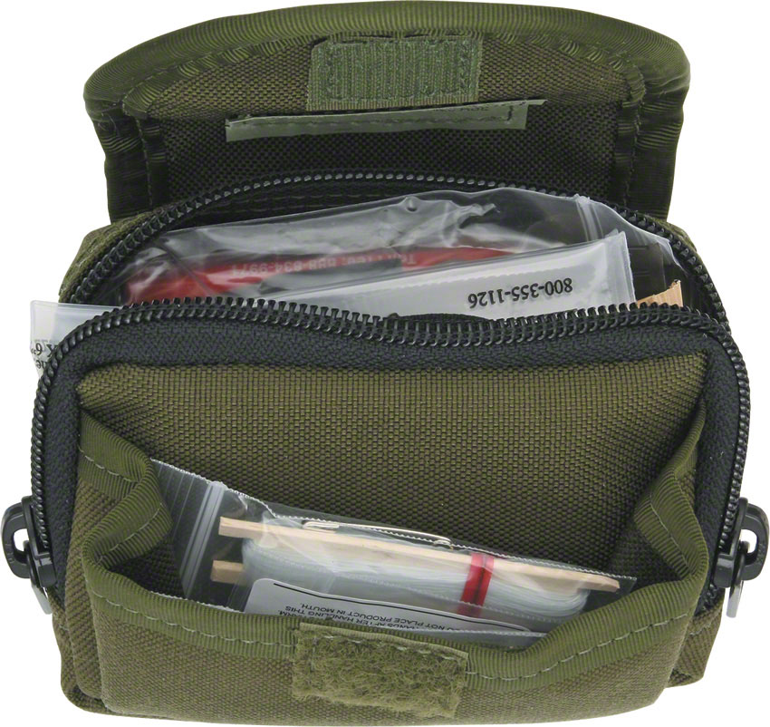 ESEE Basic Survival / E&E Pocket Kit, Green Pouch