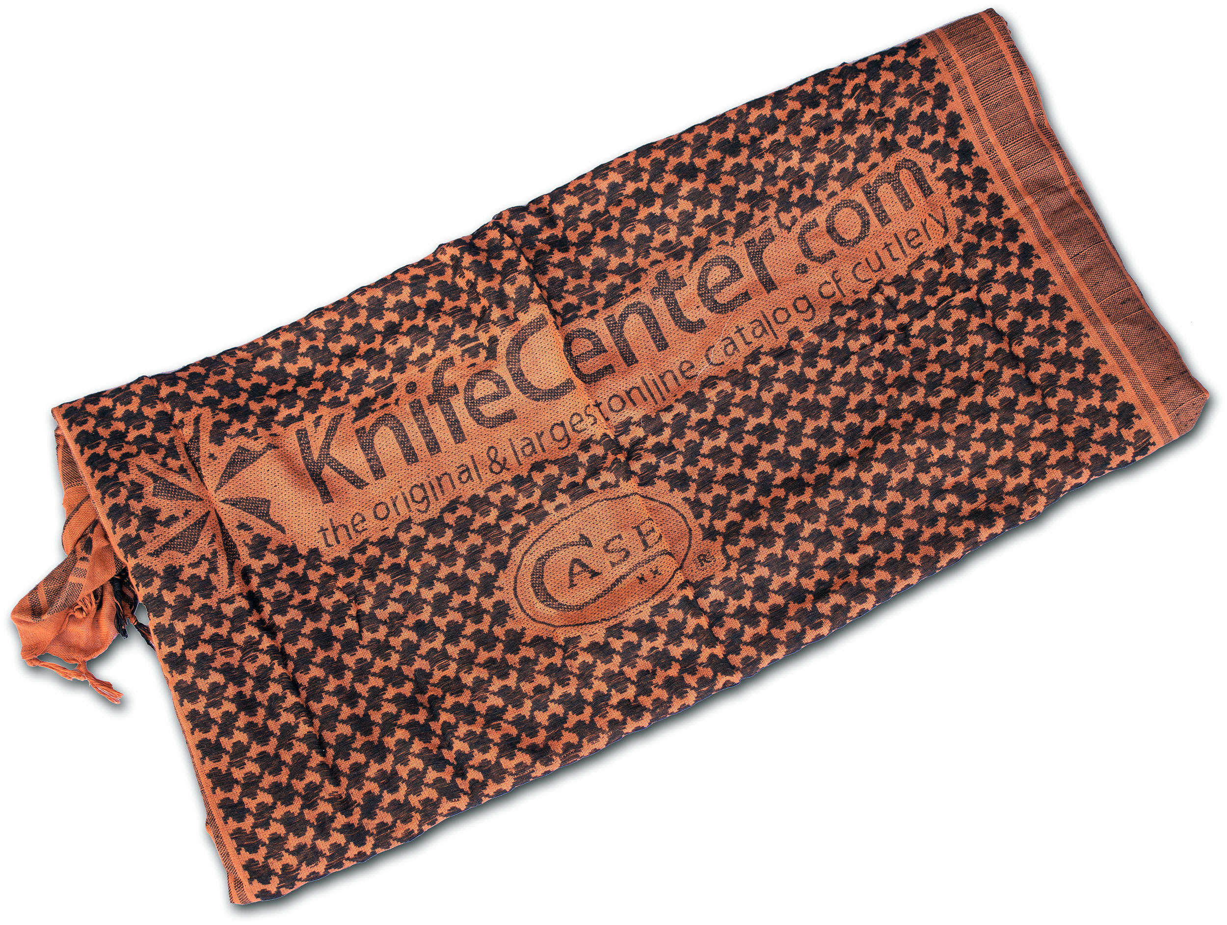 Red Rock Outdoor Gear KnifeCenter/Case Shemagh Head Wrap, Orange/Black (Promo Only, Not for Sale)