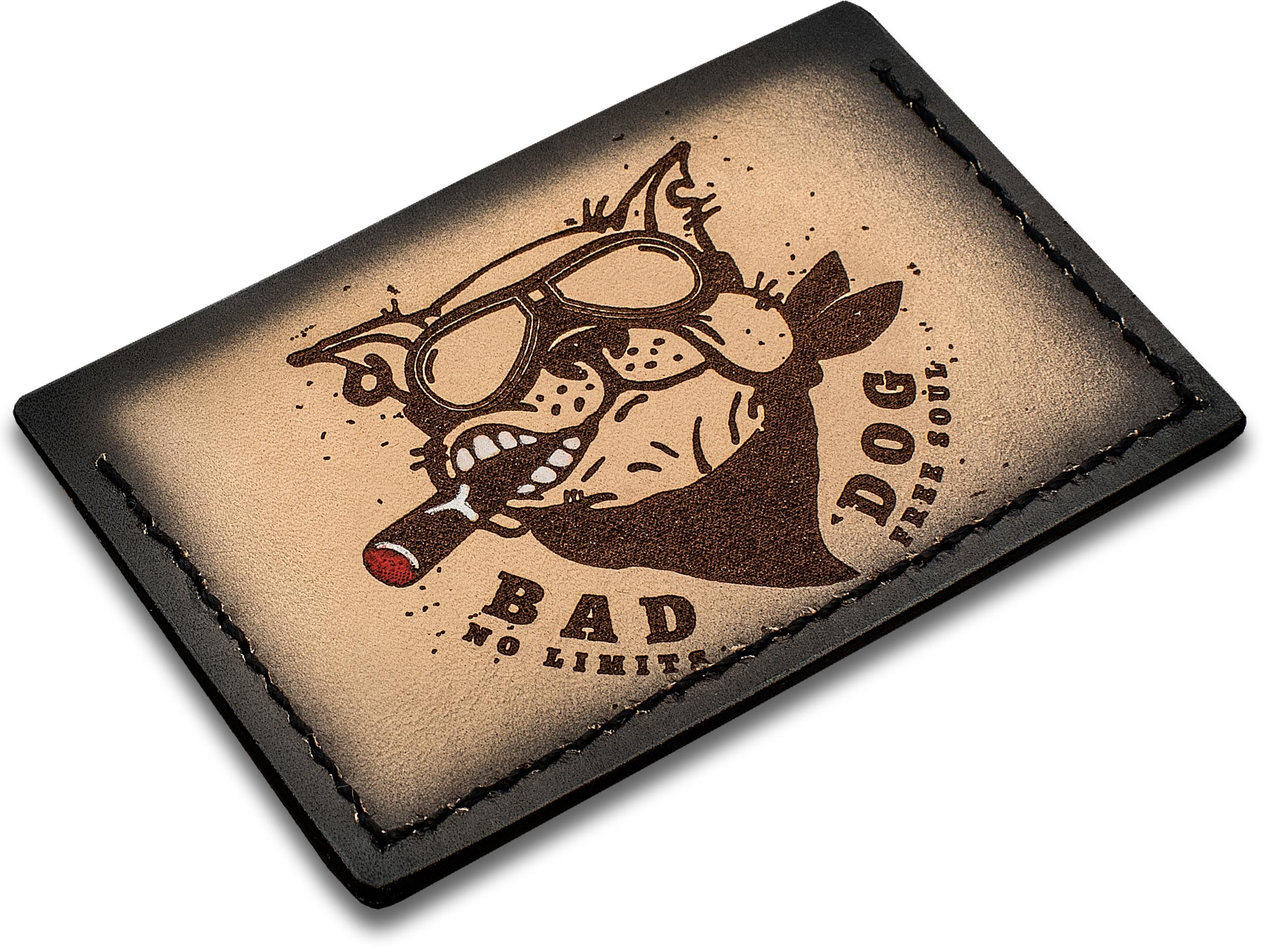 Sergey Rogovets Custom Leather Card Wallet, Bad Dog