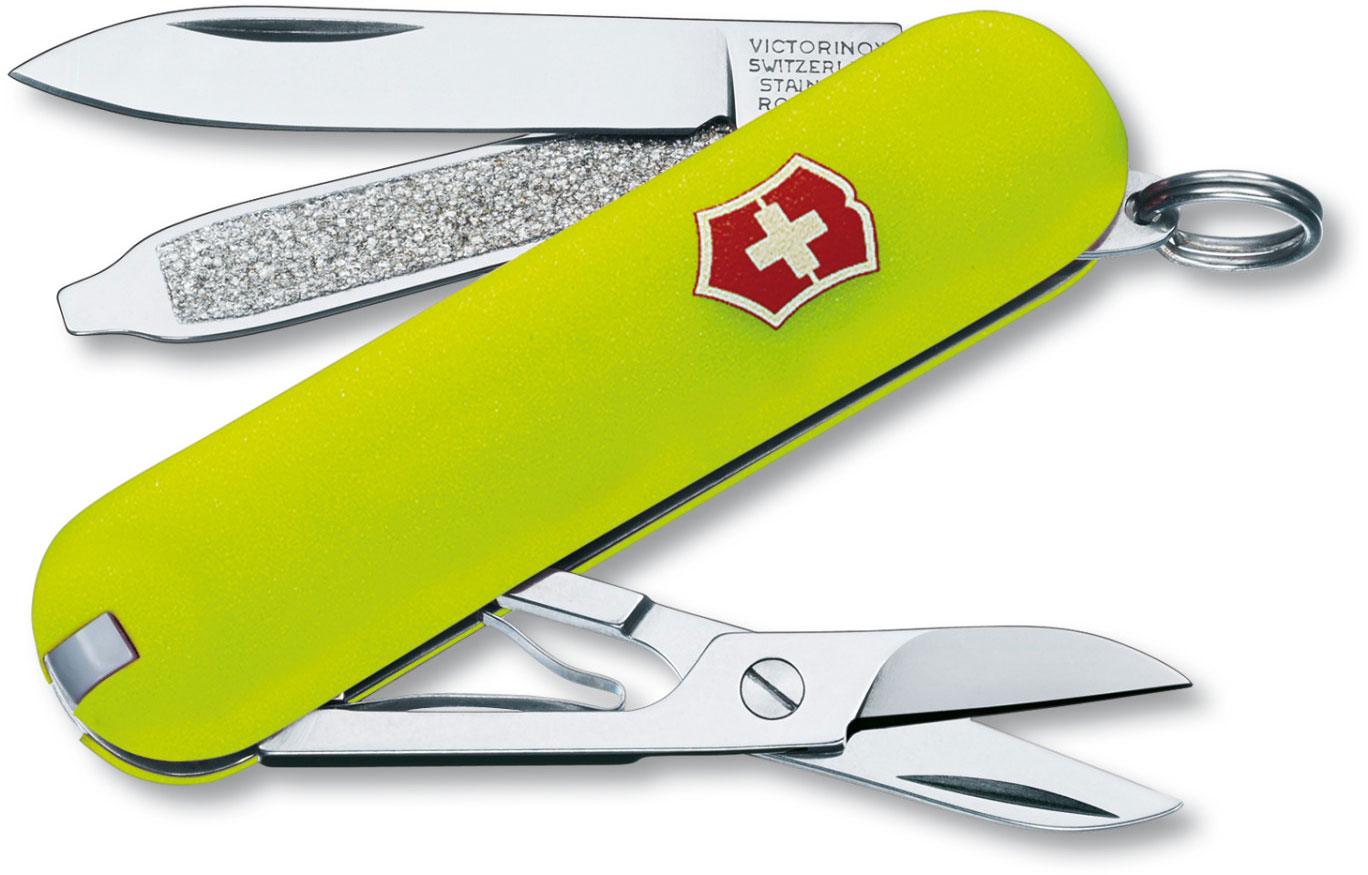 Victorinox Swiss Army Classic SD Multi-Tool, Stayglow Yellow, 2.25 inch Closed