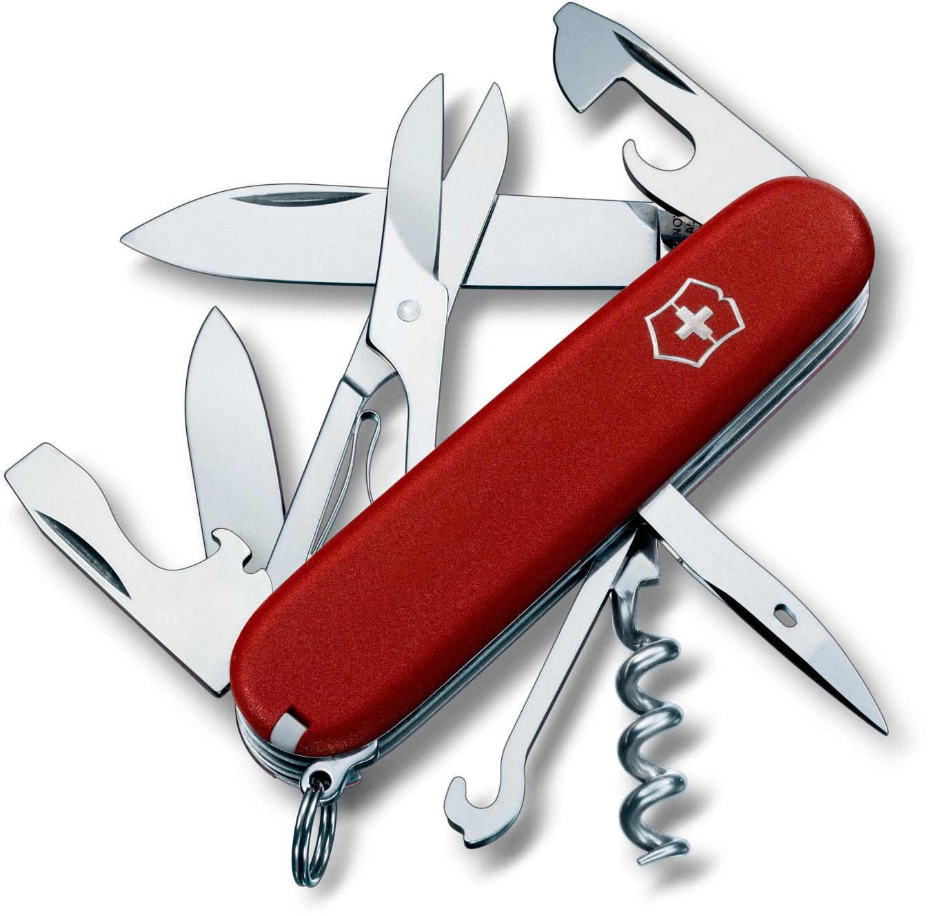 Victorinox Swiss Army Climber Multi-Tool, 3-1/2 inch Red Handles