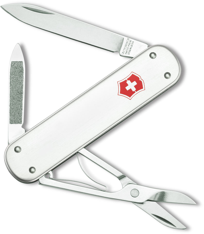 Victorinox Swiss Army Money Clip Multi-Tool, Silver, 2.91 inch Closed
