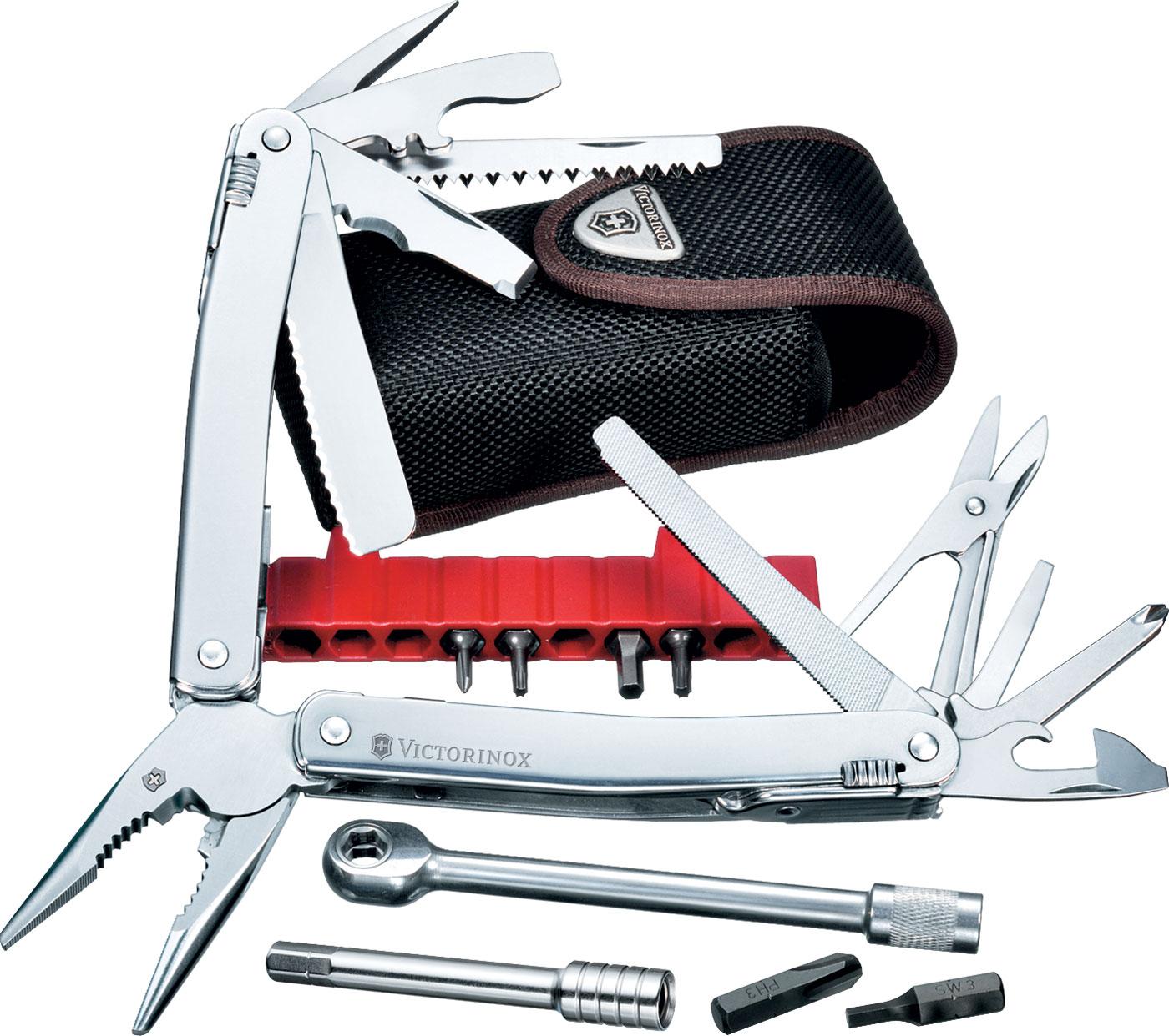 Victorinox Swiss Army SwissTool Spirit Plus Ratchet Multi-Tool 4.13 inch Closed, Nylon Sheath