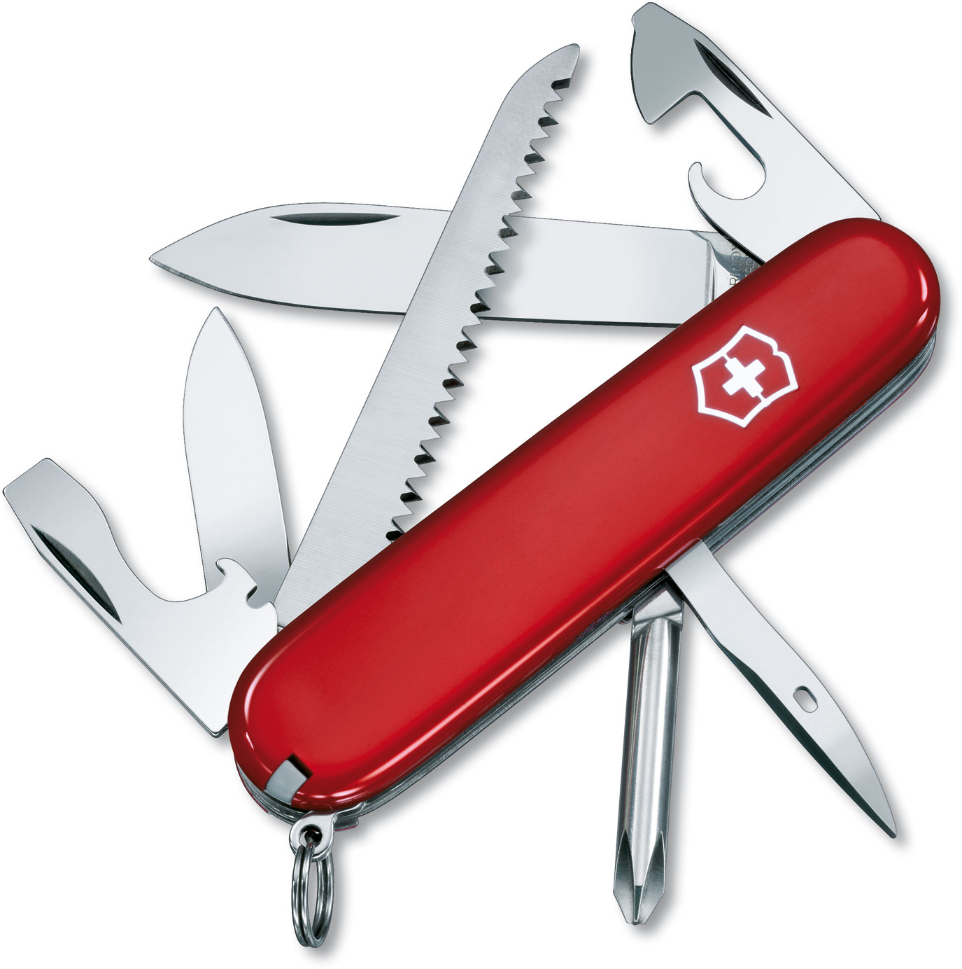Victorinox Swiss Army Hiker Multi-Tool, Red, 3.58 inch Closed