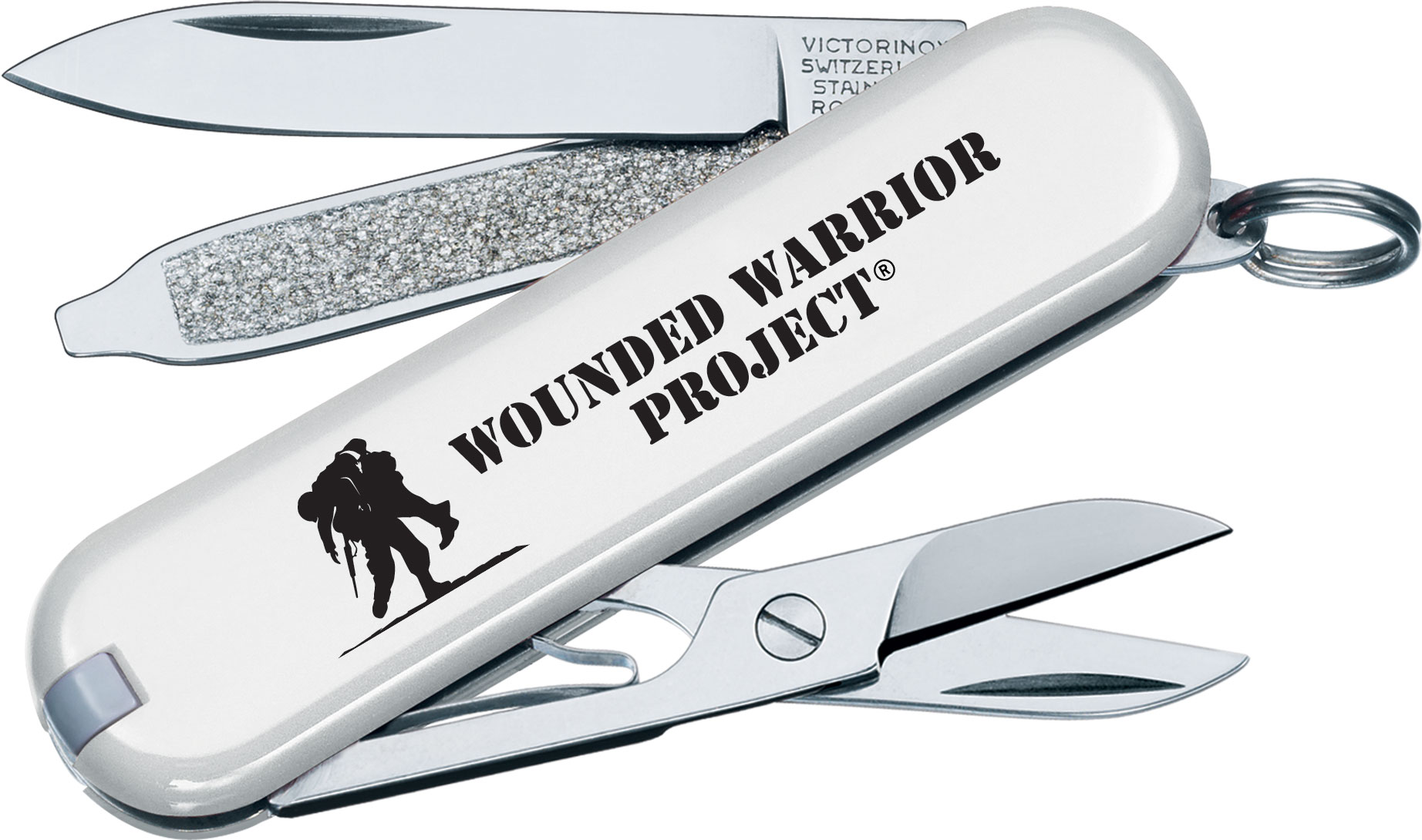 Victorinox Swiss Army Wounded Warrior Project Classic SD Multi-Tool, White, 2.25 inch Closed
