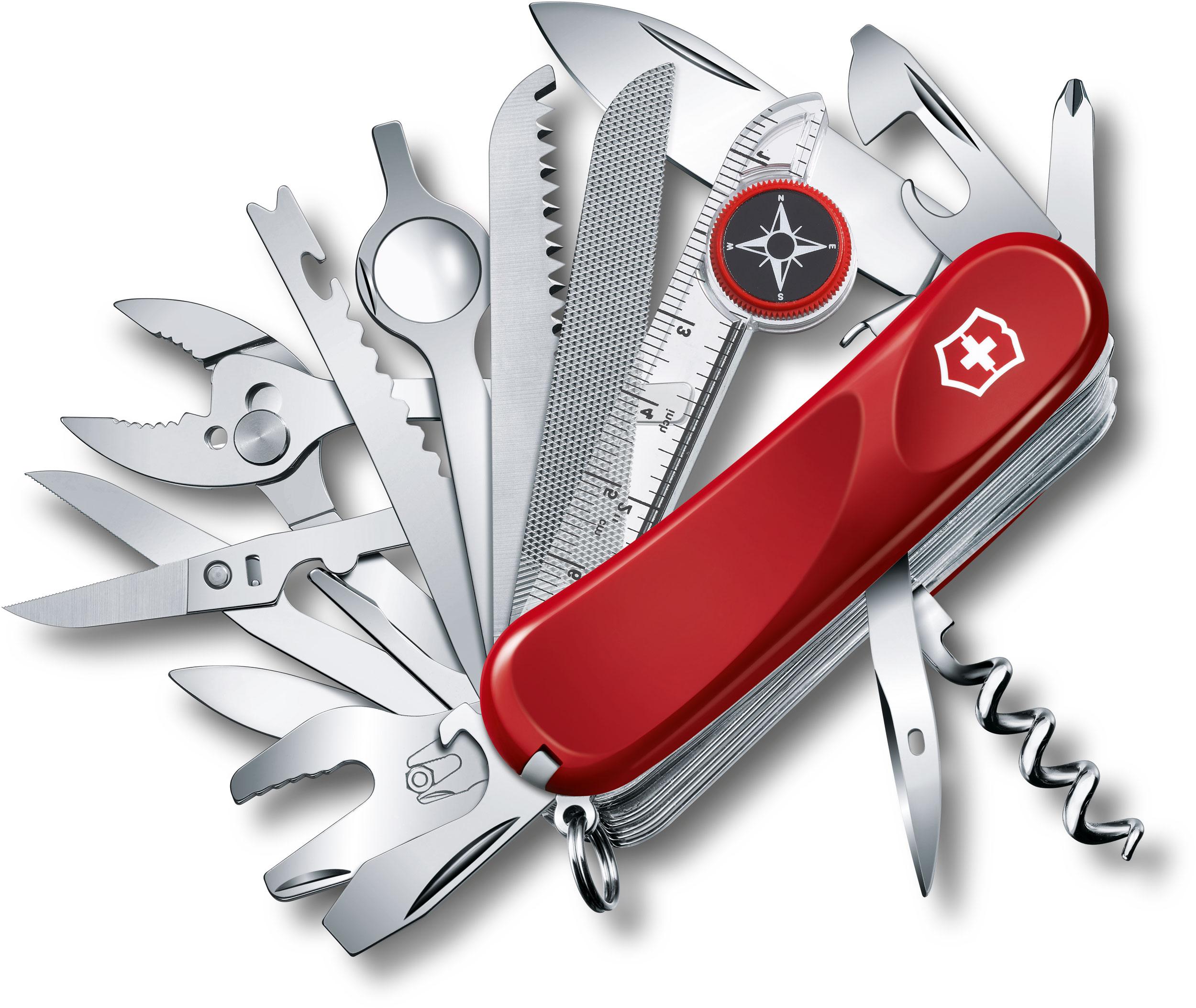 Victorinox Swiss Army Evolution S54 ToolChest Plus Multi-Tool 3-1/4 inch Red Handles (2.5393.SEUS2)