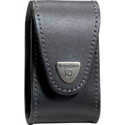 Victorinox Swiss Army Pocket Champ XLT Pouch- Black Leather