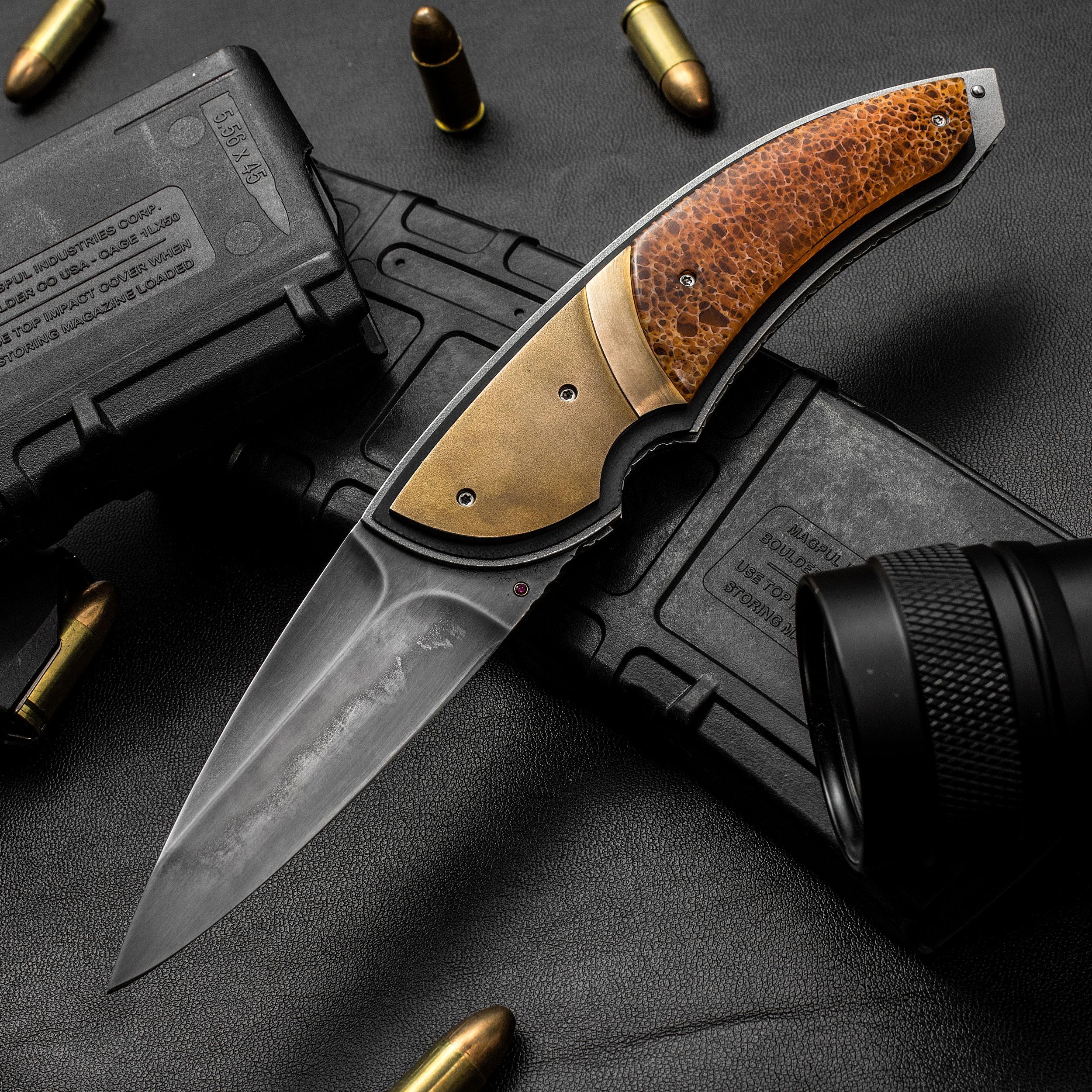 Corrie Schoeman Handmade Knives Panerai Front Flipper 3 25
