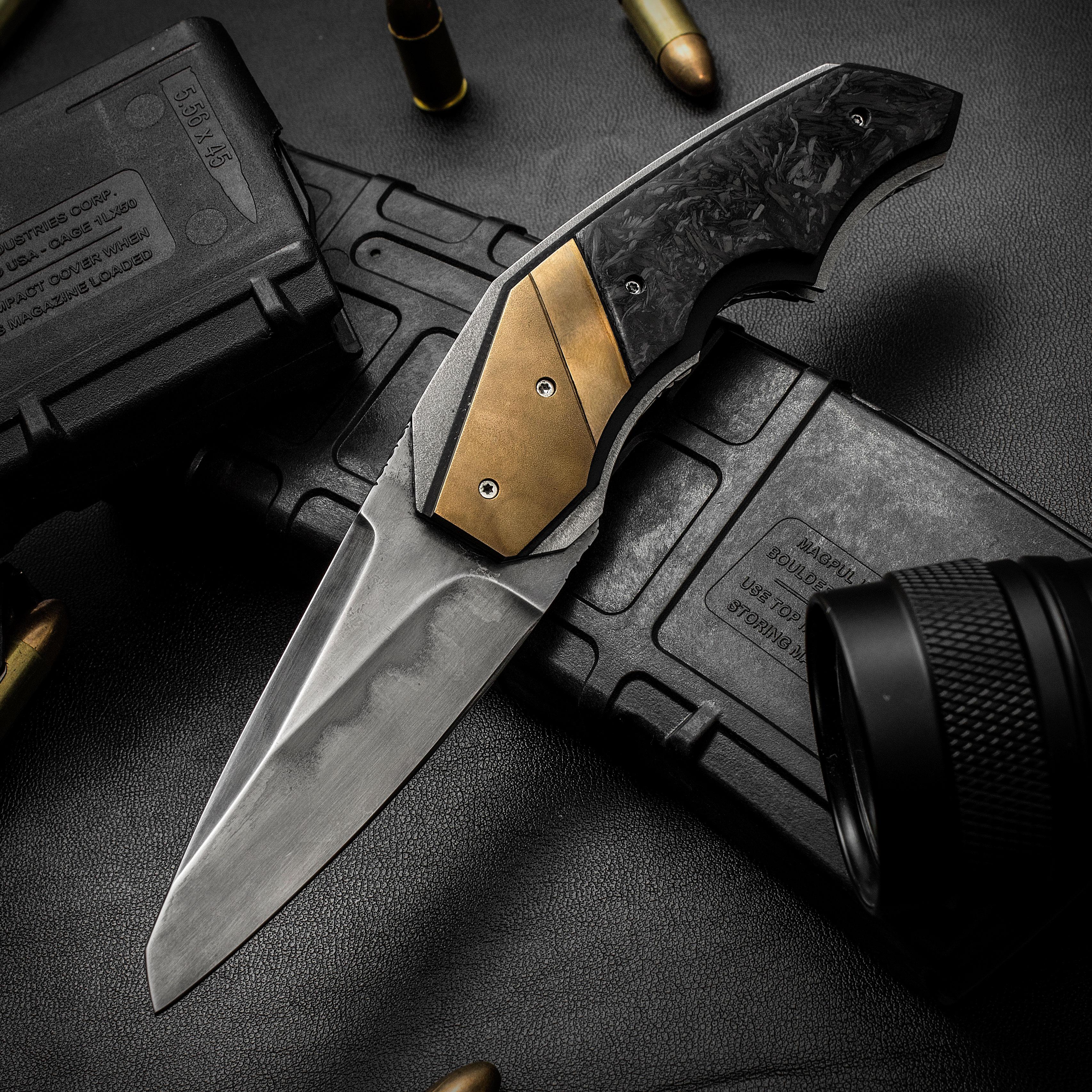 Corrie Schoeman Handmade Knives X-Ecute Front Flipper 3 125