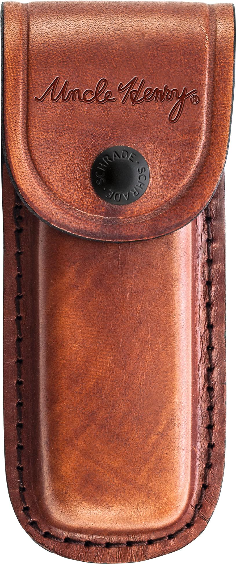Schrade LS6 Uncle Henry Large Leather Belt Sheath