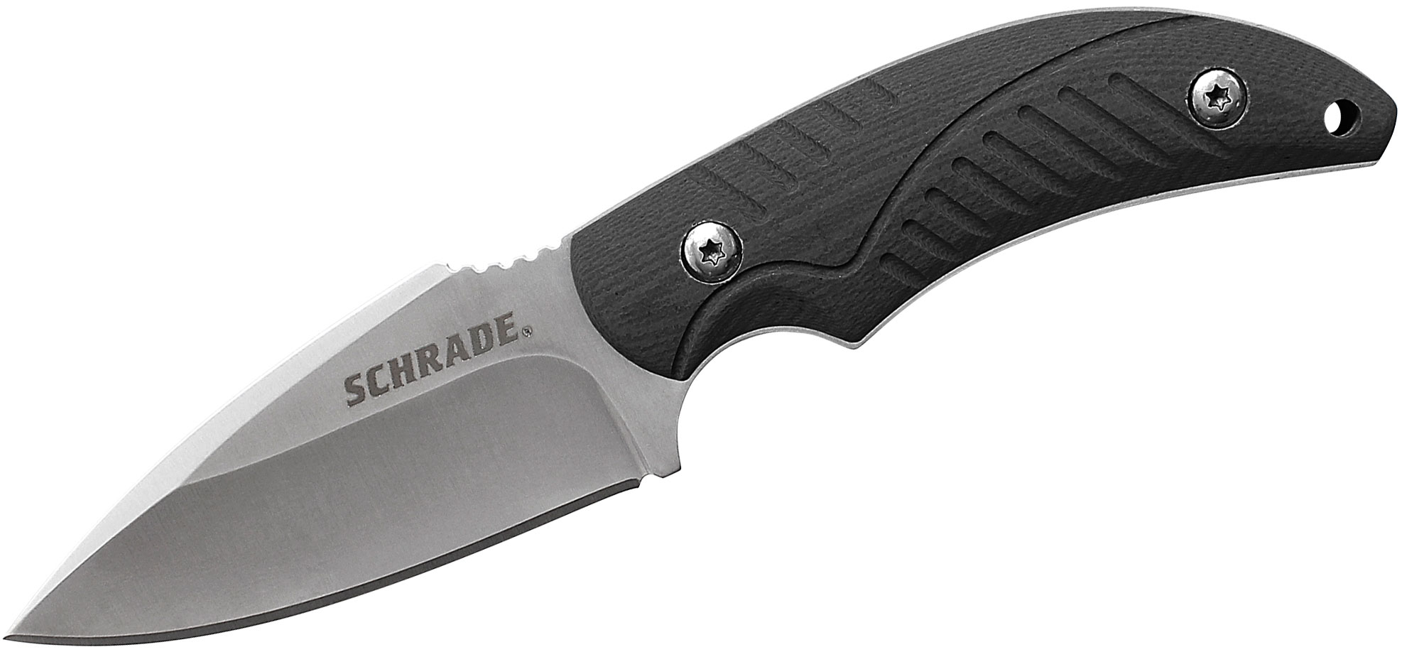 Schrade SCHF66 Survival Fixed 2.9 inch Satin Plain Blade, Thermoplastic Rubber Handles, Nylon Sheath