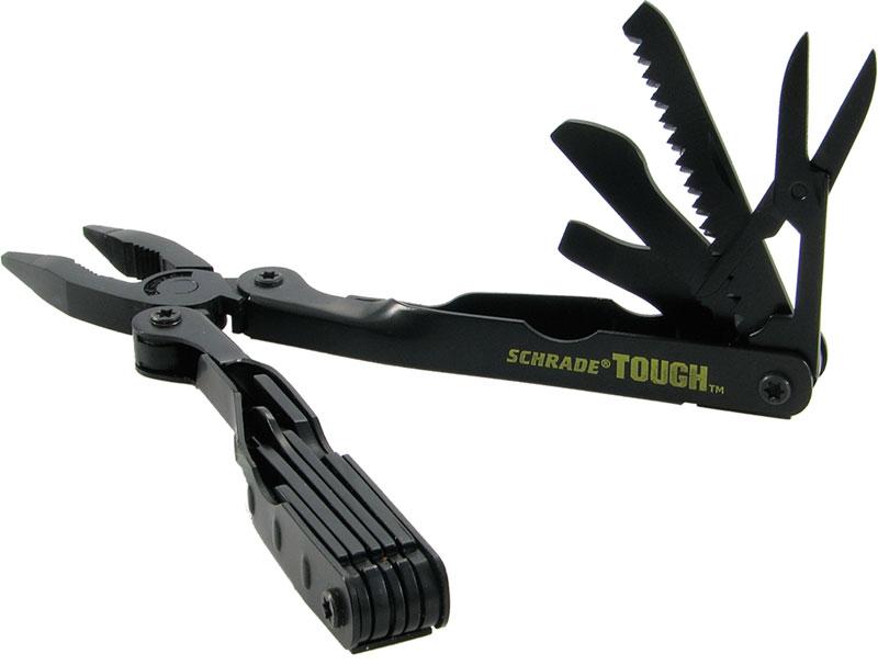 Schrade Tough Tools Multi-Tool Black Finish 4.8 inch Closed w/ Nylon Sheath