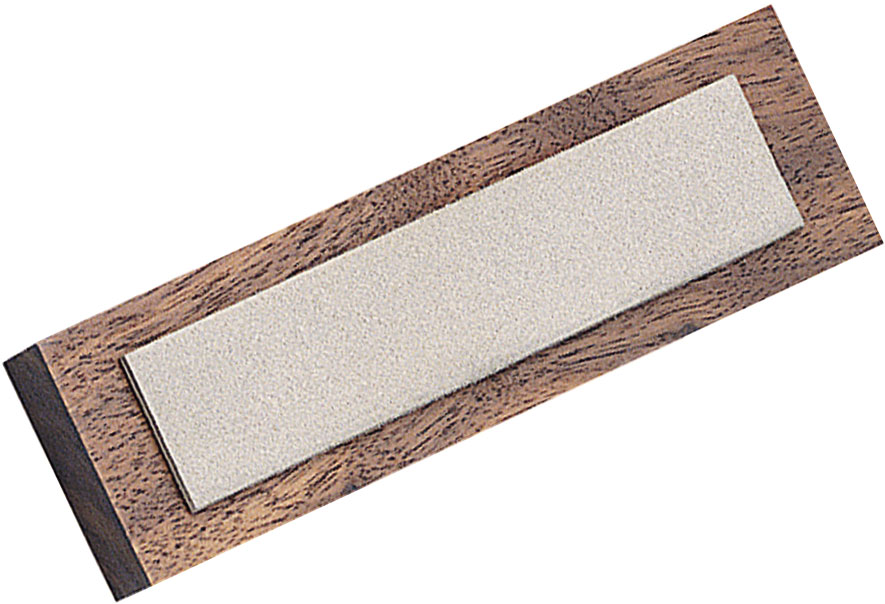 EZE-LAP Diamond Benchstone 1 inch x 4 inch Fine Grit on Wooden Block