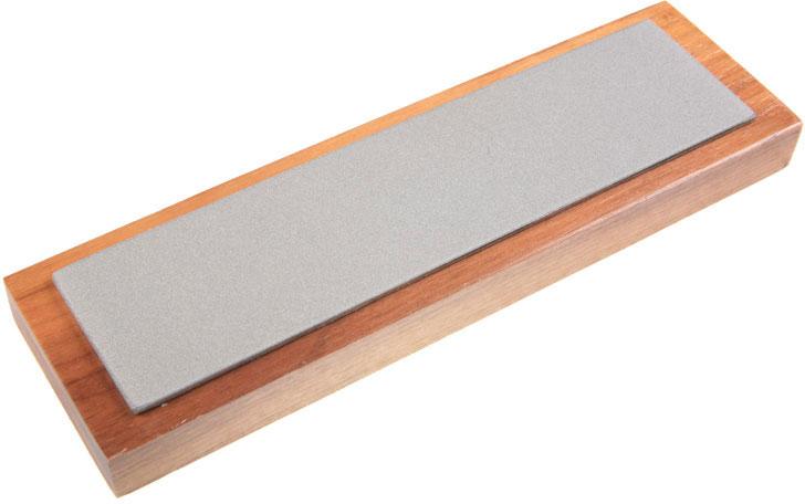 EZE-LAP Medium Stone on a Walnut Pedestal - 2 inch x 8 inch Diamond Stone