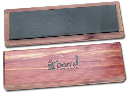 Dan's Whetstone Black Hard Arkansas Ultra Fine Bench Stone Wooden Box 8 inch x 2 inch x 1/2 inch