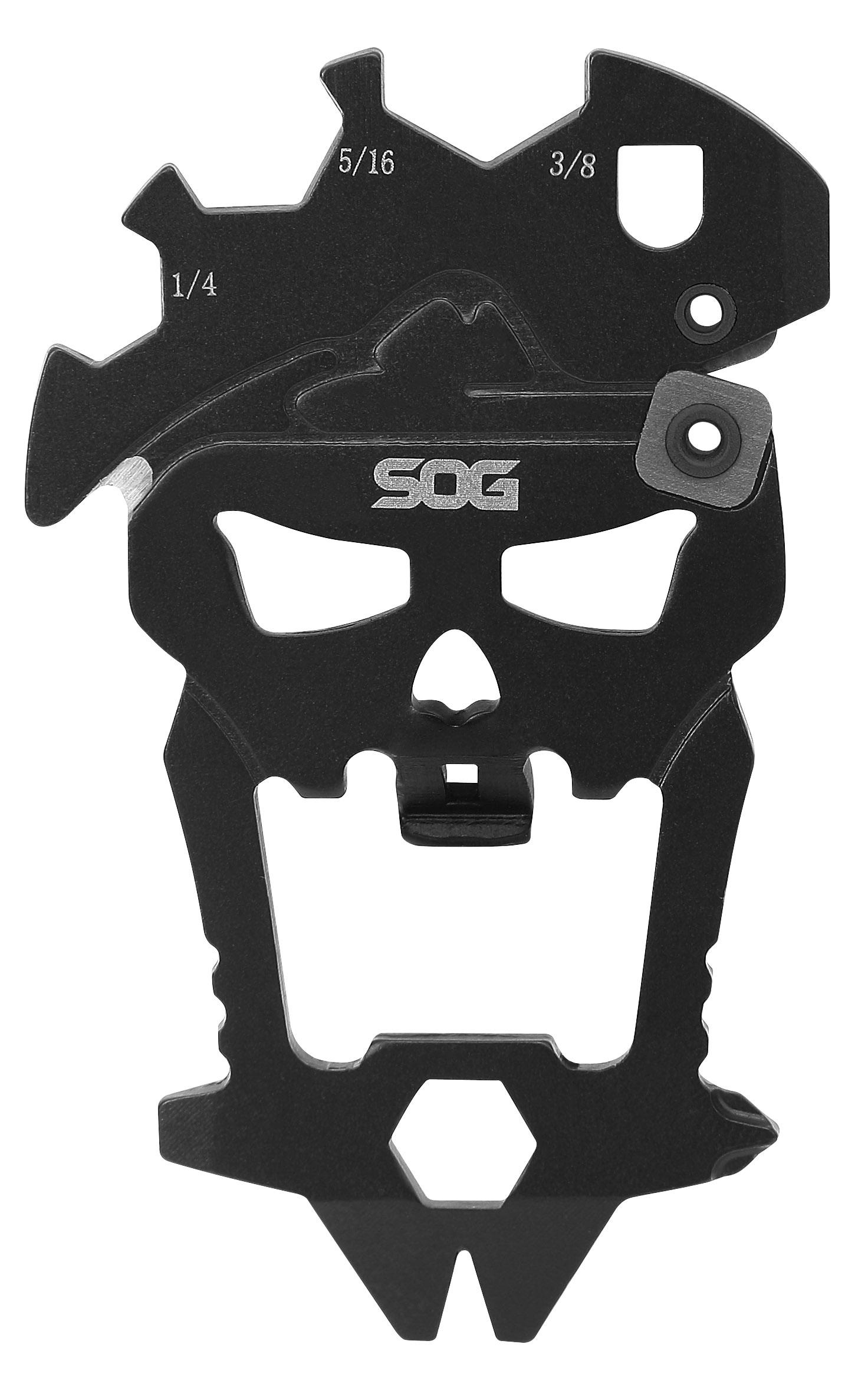 SOG MacV Tool, 12 Component Skull Multi-Tool, 2.5 inch Overall
