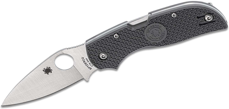 Spyderco Chaparral Lightweight Folding Knife 2.8 inch CTS-XHP Satin Plain Blade, Gray FRN Handles
