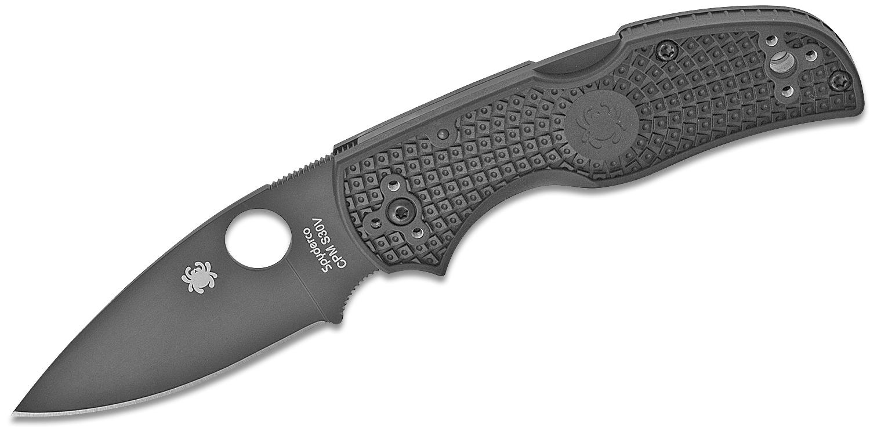 Spyderco Native 5 Folding Knife 3 inch S30V Black Plain Blade, Black FRN Handles