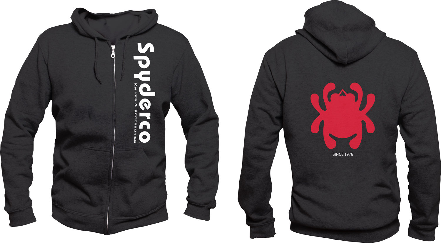 Spyderco Unisex Hooded Sweatshirt, Black, Extra Large
