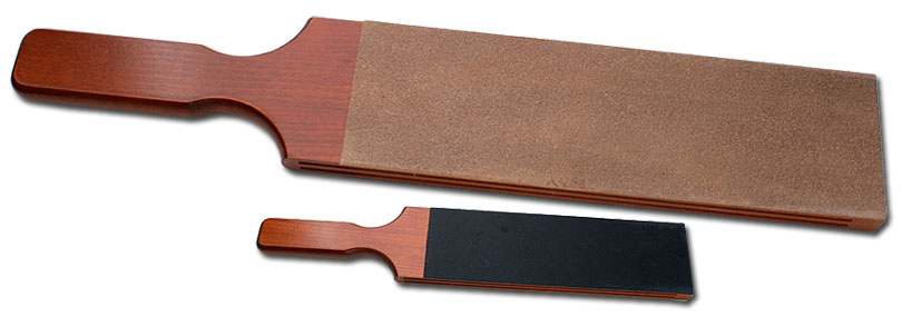 Thiers Issard French Double Sided Leather Strop Wood Paddle 10 inch x 3 inch