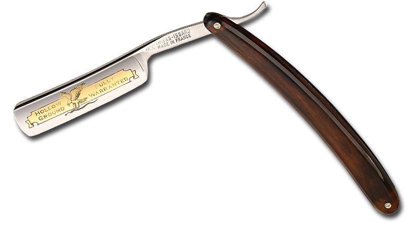 Thiers-Issard Eagle Brand Straight Razor 5/8 inch blade Imitation Tortoise Handle France