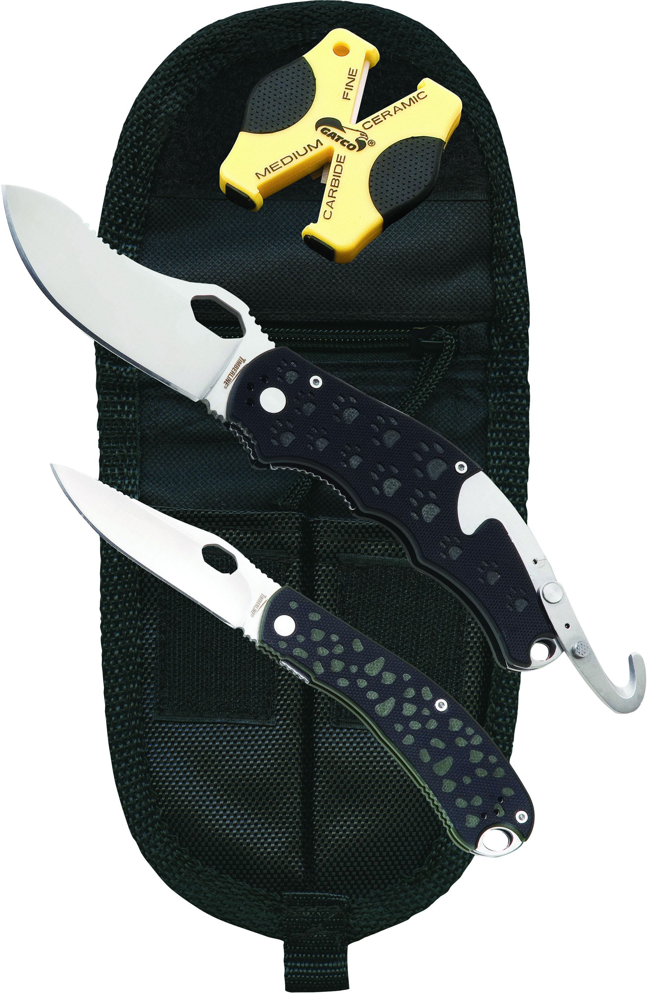 Timberline Tim Wegner  inchSimba inch &  inchChui inch Folding Hunter Set, D2 Tool Steel Blades, Nylon Sheath