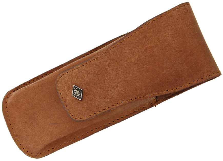 Timor Vintage Safety Razor Leather Sheath 5.5 inch Overall, Brown