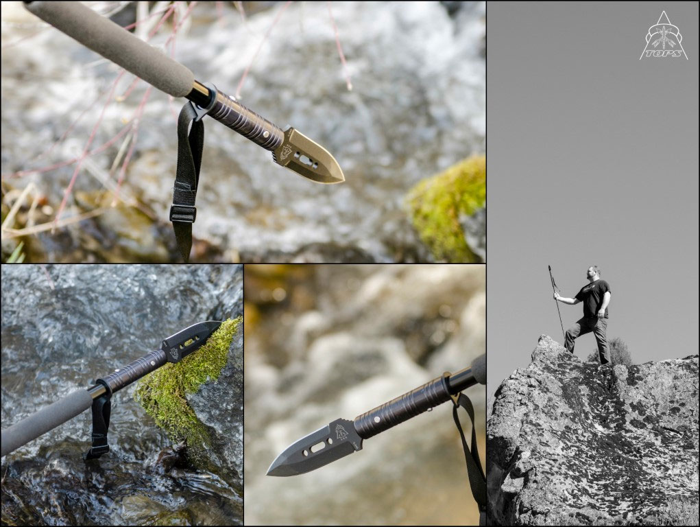TOPS Knives Trailwalker Tool All-In-One Walking Stick, Monopod and