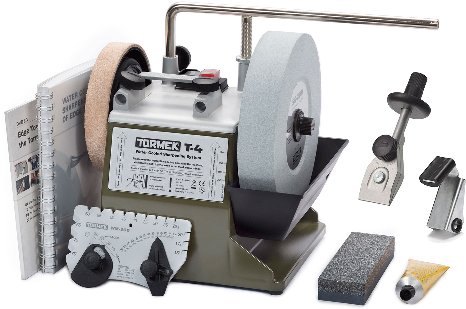 Tormek T-4 Bushcraft Water Cooled Sharpening System, Includes Knife Jig and  Axe Jig