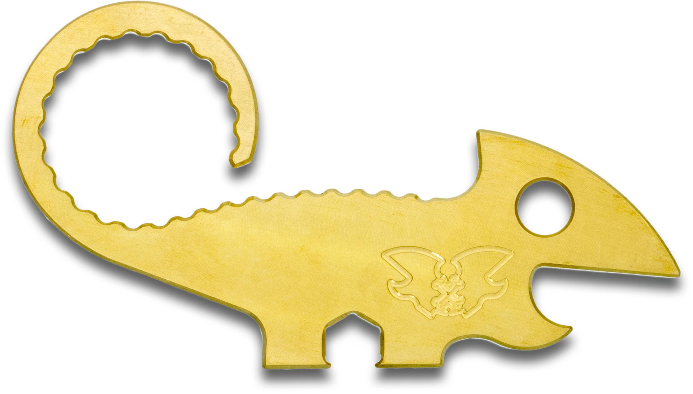 TRA Designs Brass Chugger 2.0 Chameleon Bottle Opener