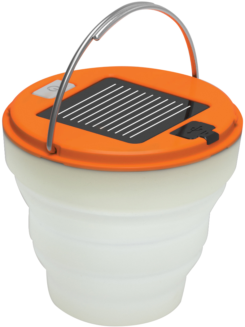 UST Ultimate Survival Spright Solar or USB Rechargeable Collapsible LED Lantern, 120 Max Lumens
