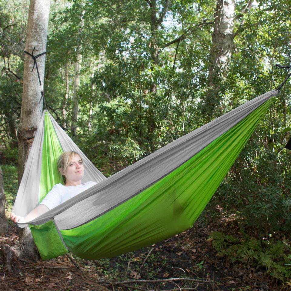 UST Ultimate Survival SlothCloth Hammock 1.0, Lime/Gray