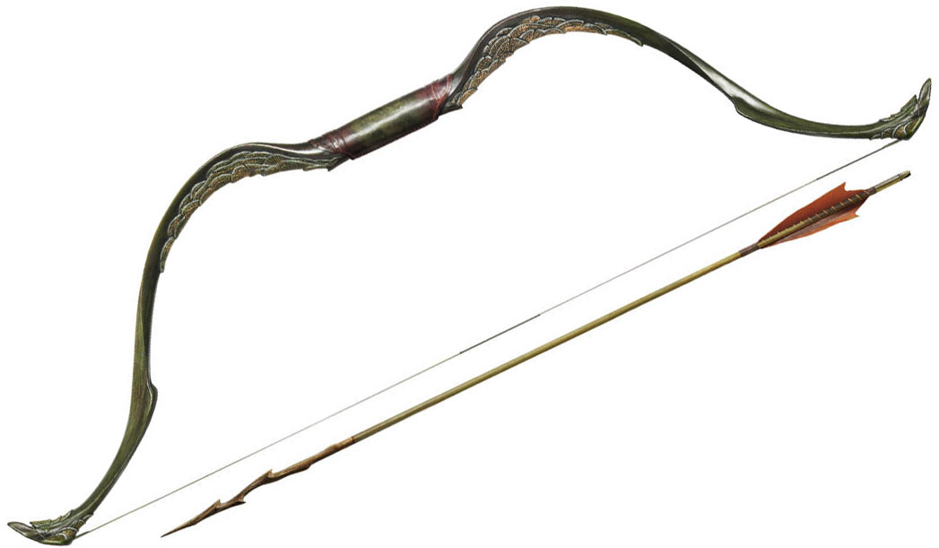 United Cutlery Hobbit Tauriel Elven Bow and Arrow 48 inch Overall
