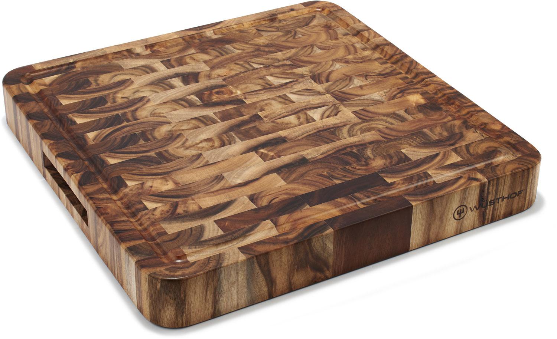 Wusthof Square Acacia End-Grain Chopping Block / Cutting Board 14 inch x 14 inch x 1.75 inch