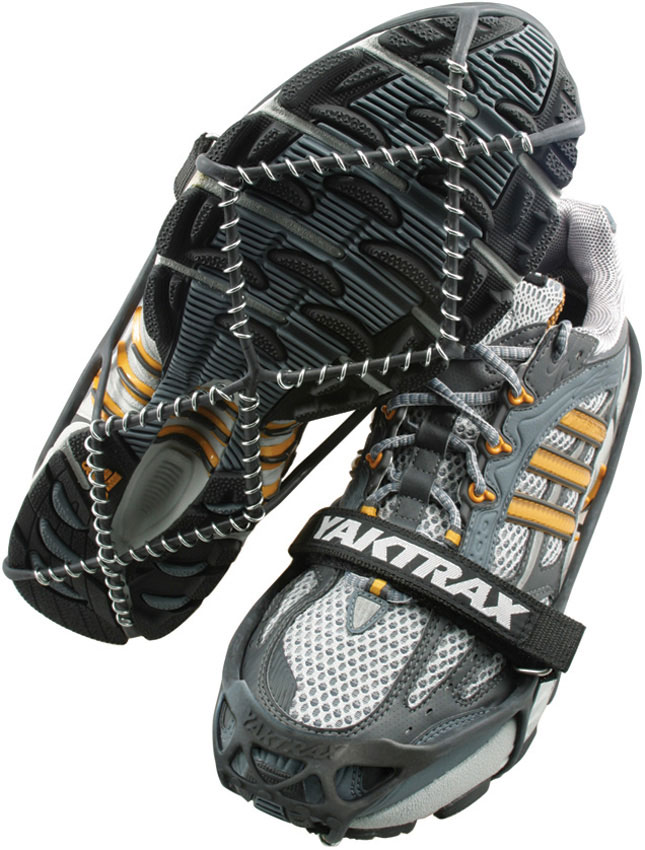 Yaktrax Pro Ice and Snow Traction Device, Black, Large