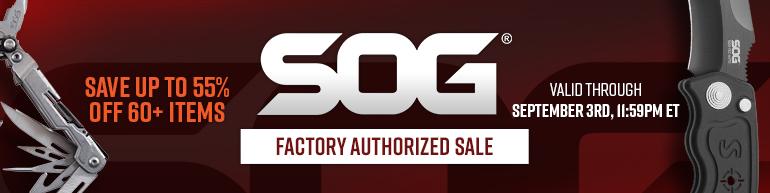 SOG Factory Authorized Sale