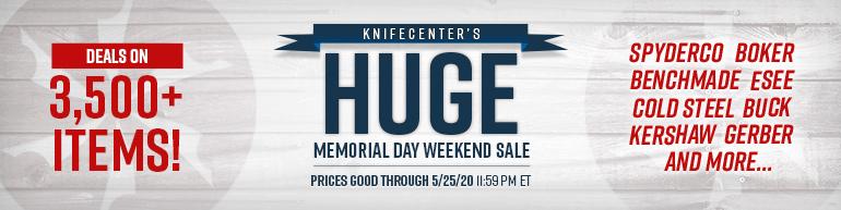Huge Memorial Day Weekend Sale