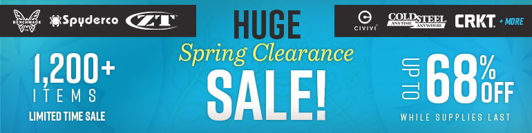 KnifeCenters Huge Spring Clearance Sale