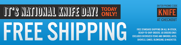 National Knife Day Free Shipping
